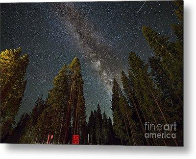 Starry Night In Yosemite  Metal Print by Art K