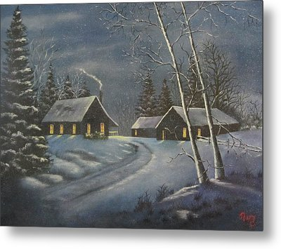 Starry Night Metal Print by Terry Boulerice