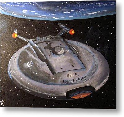 Starship Enterprise Metal Print by Rita Tortorelli