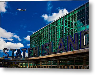 Staten Island Ferry Terminal Metal Print by Chris Lord
