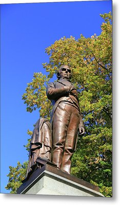 Statue Of Daniel Webster - Central Park # 2 Metal Print by Allen Beatty