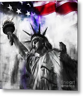 Statue Of Liberty 005 Metal Print by Gull G