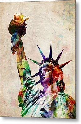 Statue Of Liberty Metal Print by Michael Tompsett