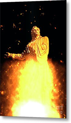 Statue Of Rigas Feraios Metal Print by Humorous Quotes