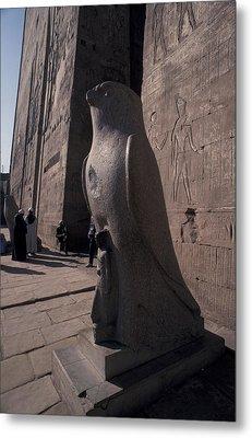 Statue Of The Bird God, Horus Metal Print by Richard Nowitz
