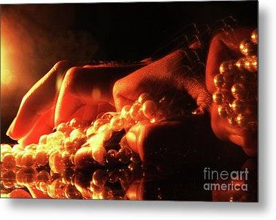 Stealing Pearls  -  2 Metal Print by Prar Kulasekara