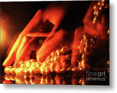 Stealing Pearls Metal Print by Prar Kulasekara