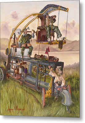Steam Powered Rodent Remover Metal Print by Jeff Brimley
