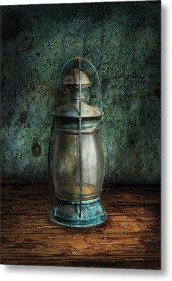 Steampunk - An Old Lantern Metal Print by Mike Savad