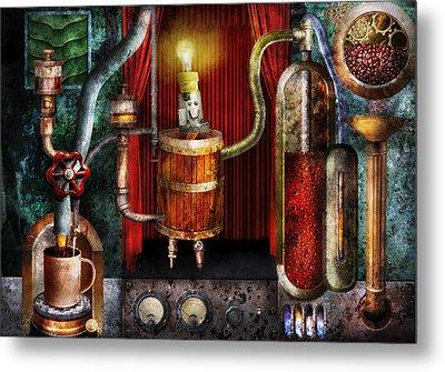 Steampunk - Coffee Break Metal Print by Mike Savad