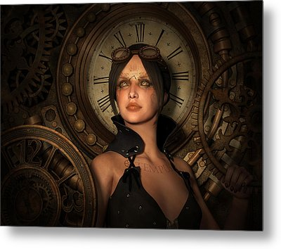 Steampunk Time Keeper Metal Print by Britta Glodde