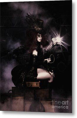 Steampunkxpress Metal Print by Shanina Conway