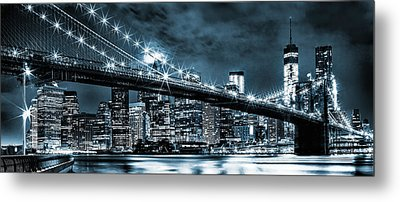 Steely Skyline Metal Print by Az Jackson