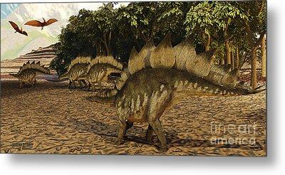 Stegosaurus Metal Print by Corey Ford