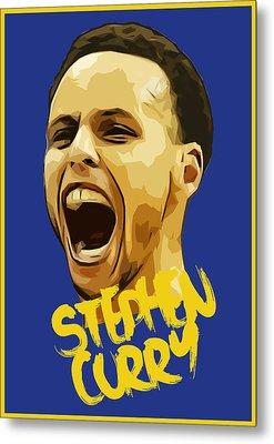 Stephen Curry 3 Metal Print by Semih Yurdabak