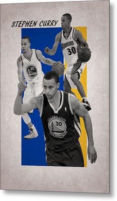 Stephen Curry Golden State Warriors Metal Print by Joe Hamilton