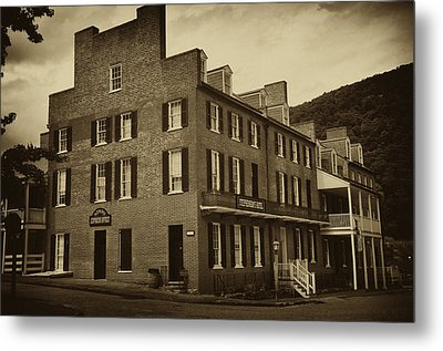 Stephensons Hotel - Harpers Ferry  West Virginia Metal Print by Bill Cannon