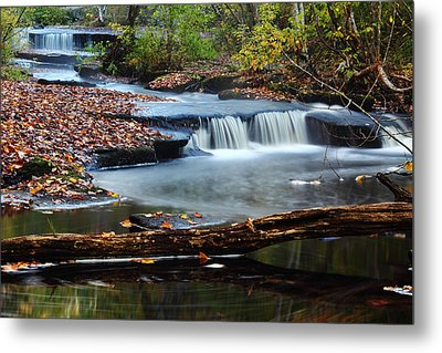 Stepstone Falls Metal Print by Andrew Pacheco