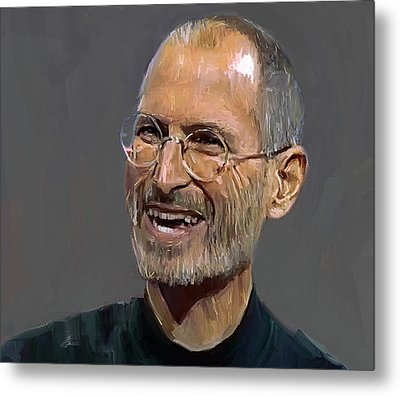 Steve Jobs Metal Print by Yury Malkov