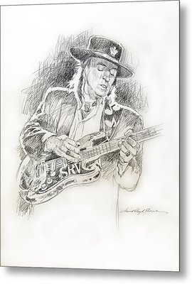 Stevie Ray Vaughan - Texas Twister Metal Print by David Lloyd Glover