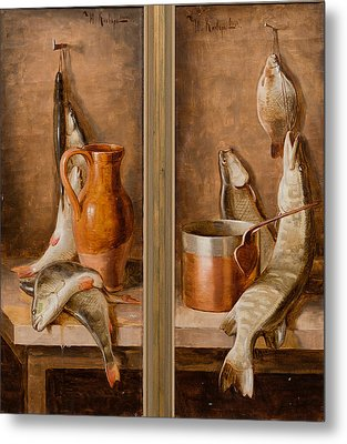 Still Life With Fish Metal Print by Juli Julievich Klever
