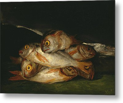 Still Life With Golden Bream Metal Print by Francisco Goya