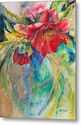 Still Life With Peonies Metal Print by Kate Bedell
