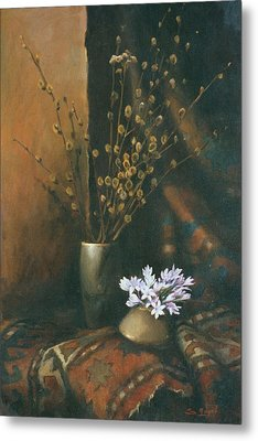 Still-life With Snow Drops Metal Print by Tigran Ghulyan