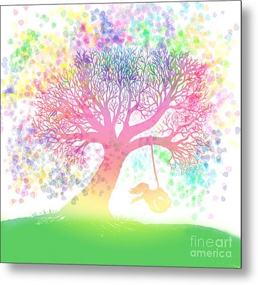 Still More Rainbow Tree Dreams 2 Metal Print by Nick Gustafson