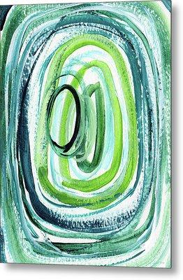 Still Orbit 9- Abstract Art By Linda Woods Metal Print by Linda Woods