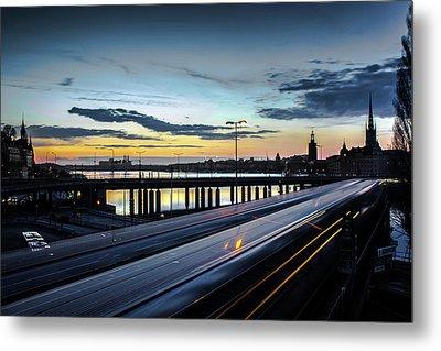 Stockholm Night - Slussen Metal Print by Nicklas Gustafsson