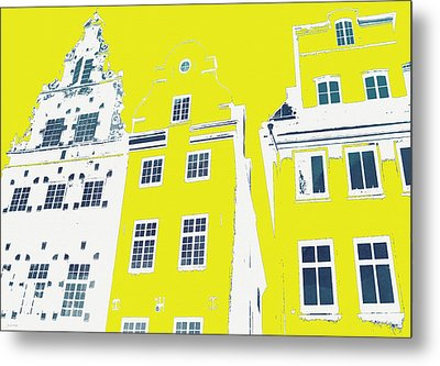 Stockholm Windows Metal Print by Linda Woods