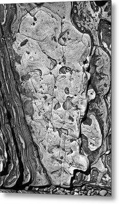 Stone Patterns Rock Map Metal Print by Garry Gay