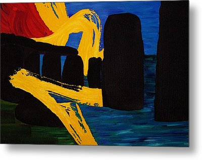 Stonehenge Abstract Evolution1 Metal Print by Gregory Allen Page