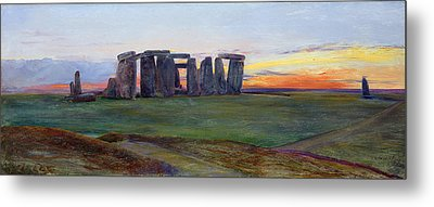 Stonehenge Metal Print by John William Inchbold