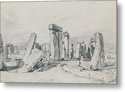Stonehenge Wiltshire Metal Print by John Constable