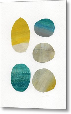 Stones- Abstract Art Metal Print by Linda Woods