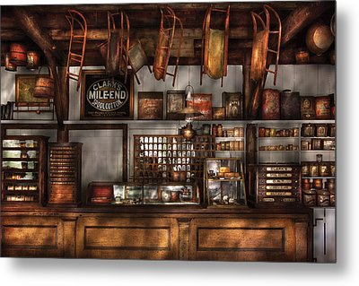 Store - Old Fashioned Super Store Metal Print by Mike Savad
