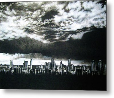 'storm Approaching' Metal Print by Lizelle Engelbrecht