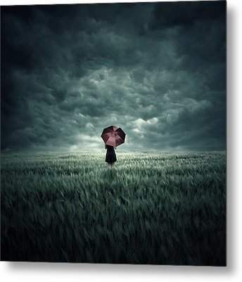 Storm Is Coming Metal Print by Zoltan Toth