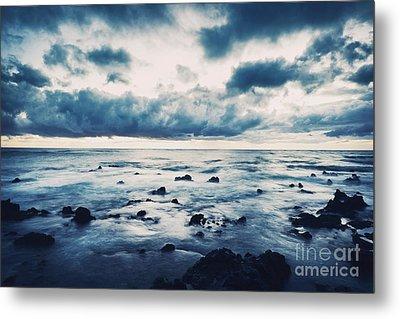 Storm On The Sea, Ocean Storm Metal Print by Caio Caldas
