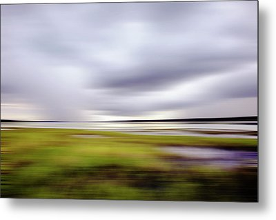 Storm Over River Metal Print by Skip Nall