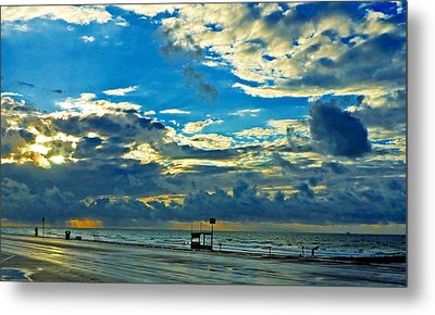 Storm Over The Gulf Metal Print by John Collins