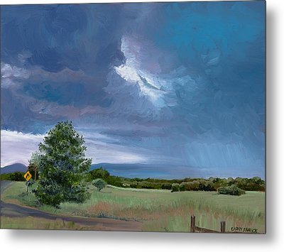 Storm Warning Yell County Arkansas Metal Print by Cathy France