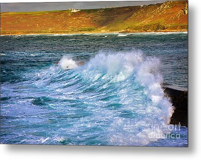 Storm Wave Metal Print by Louise Heusinkveld