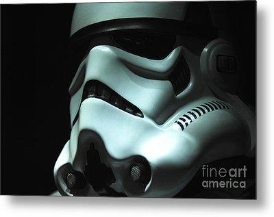 Stormtrooper Helmet Metal Print by Micah May