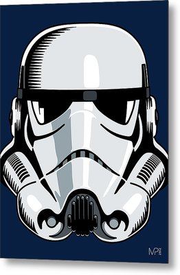 Stormtrooper Metal Print by IKONOGRAPHI Art and Design