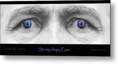 Stormy Angry Eyes Poster Print Metal Print by James BO  Insogna