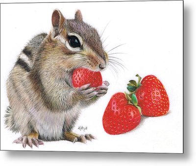 Strawberry Delight Metal Print by Karen Hull