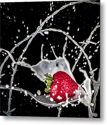 Strawberry Extreme Sports Metal Print by TC Morgan